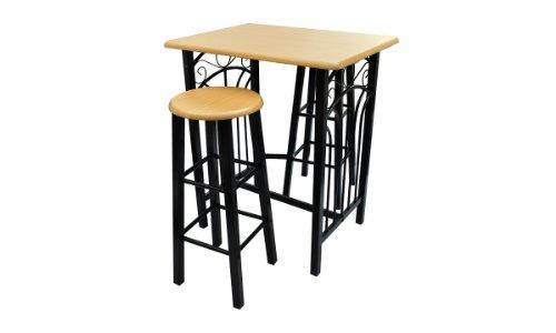 Tavolo rettangolare da cucina con 2 sedie set in legno, tavolo ...