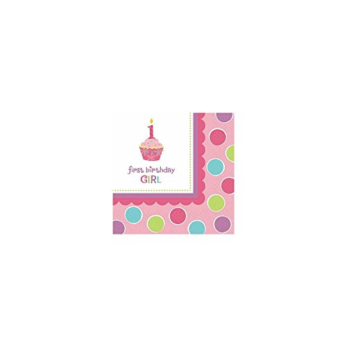 Amscan Sweet Little Cupcake Girl Beverage Napkins - 36 ct