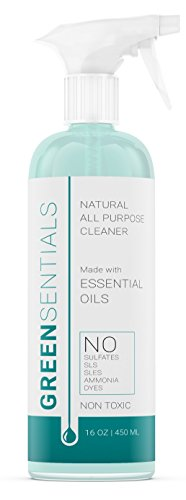 Greensentials Household All Purpose Cleaner,  All Natural Cleaner with Essential Oils Eucalyptus and Lemon, 16 oz