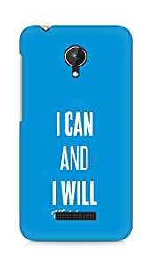 AMEZ i can and i will watch me Back Cover For Micromax Canvas Spark Q380