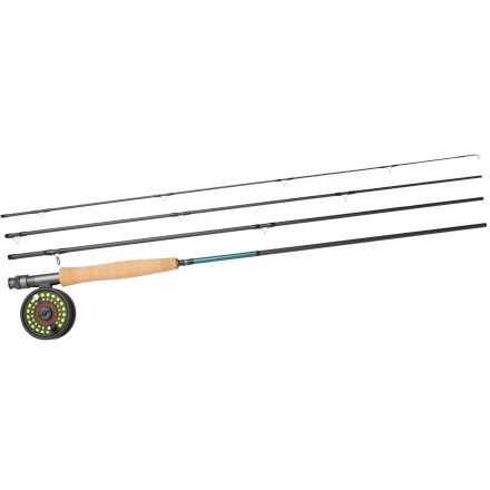 Hardy Grey's Beginner Fly Fishing Outfit 9 Foot 5 Weight 4 piece with Reel, Line, Backing & leader