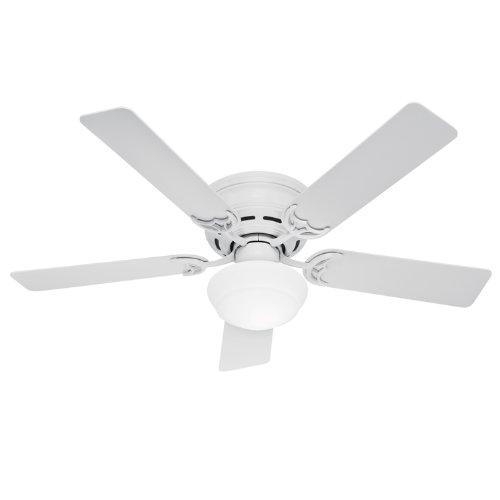 Hunter 20810 52-Inch Low Profile III Ceiling Fan With Light Kit