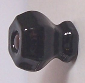 LOTs of 8 Jet Black Crystal Knob Pulls with OIL RUBBED BRONZE with Flush-Fit Screws - Our Original Premium Depression type Crystal Glass Cabinet Knobs