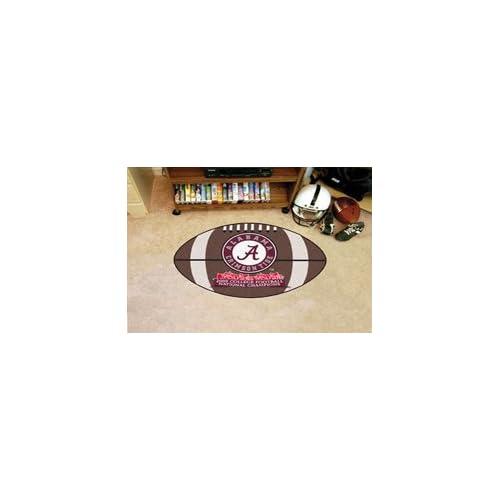 Alabama Crimson Tide Football Shaped Door Mat Rug National Champions