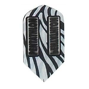 3 Sets of 3 Dart Flights - 2234 - Pentathlon Zebra Stripes Slim Double Thick Flights
