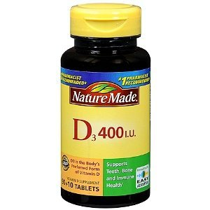 Nature Made Vitamin D3 400 Iu, Tablets 100Ct (Pack Of 7)