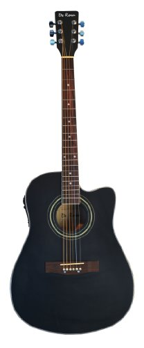 "41"" Inch Cutaway 4 Eq Acoustic Electric Guitar Black With Gig Bag And Accessories & Directlycheap(Tm) Translucent Blue Medium Guitar Pick"