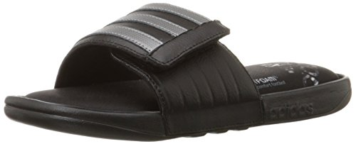 adidas Performance Men's Adissage Comfort Sandal,Black/Iron Metallic Grey/Black,12 M US (Iron Acetate compare prices)