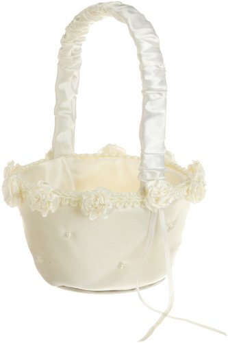 Wilton 120-084 Wedding Day Collection Traditional Flower Basket, Ivory