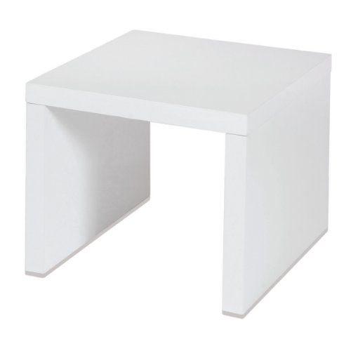 Side Table In White High Gloss