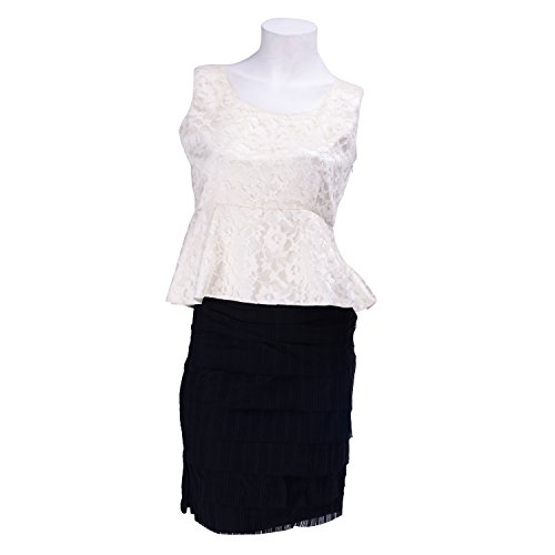 Am Couture Off White Lace Peplum Top