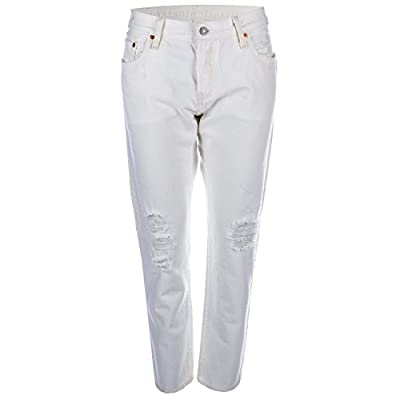 Womens Levis 501 Ct White Tumble Jeans In White