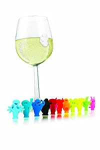 Vacu Vin Glass Markers Party People - Set of 12