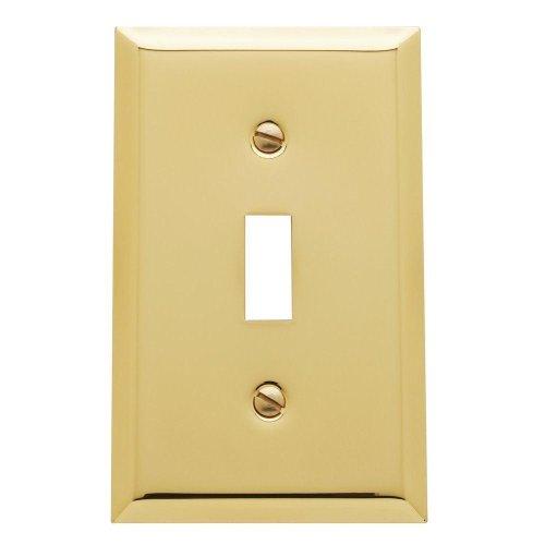 Yow- Baldwin Beveled Edge 1 Toggle Wall Plate - Polished Brass Model# 4751.030.Cd