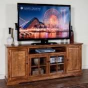 """Sunny Designs Sedona TV Console, 78"""", Rustic Birch"""