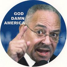 Rev Jeremiah Wright's God Damn America Pin
