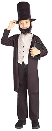 Boys Abraham Lincoln Kids Child Fancy Dress Party Halloween Costume