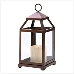 Bronze Contemporary Candle Holder Lantern Centerpieces Decor