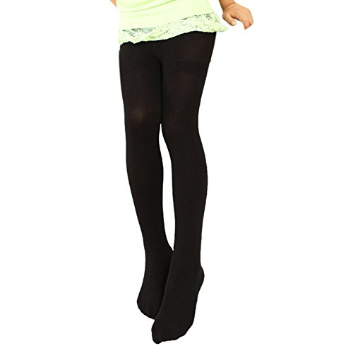 Weixinbuy Kid Girls Soft Velvet Solid Color Dance Stockings Leggings Sock