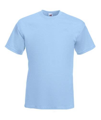 Fruit of the Loom Super Premium T- Sky Blue- XL XL,Sky Blue