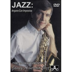 Jazz: Anyone Can Improvise For All Instruments: Basic/Intermediate By Jamey Aebersold (Videotape and Booklet)