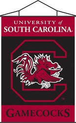 South Carolina Gamecocks-Indoor Banner Scroll SKU-PAS233835 ncaa south carolina gamecocks flag with grommets
