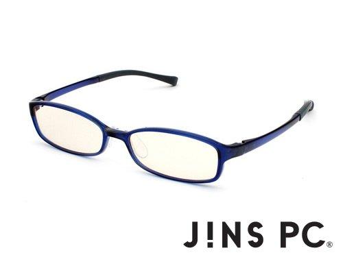 【JINS PC スクエア ハイコントラストレンズ】PC(ディスプレイ)専用メガネ (度なし) (NAVY)