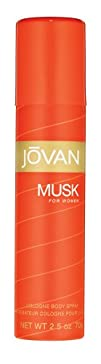 Jovan Musk By Coty All-over Body Cologne Spray 2.5-Ounce