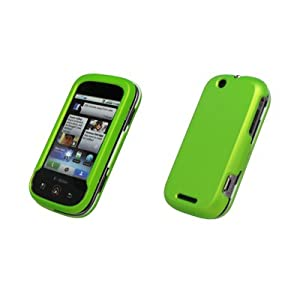 Neon Green Rubberized Hard Cover Crystal Case for Motorola Cliq MB200 [Accessory Export Packaging]