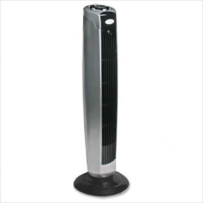 ATL44556 - Oscillating Tower Fan,3-Speeds,9-1/2x9-1/2x32,Charcoal
