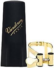 Vandoren LC57DP - Abrazadera para saxofón alto (con boquillero de plástico), color dorado