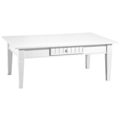 Buy Low Price Coffee Table With 2 Drawers And Side Table With 1 Drawer In Turkish White Finish