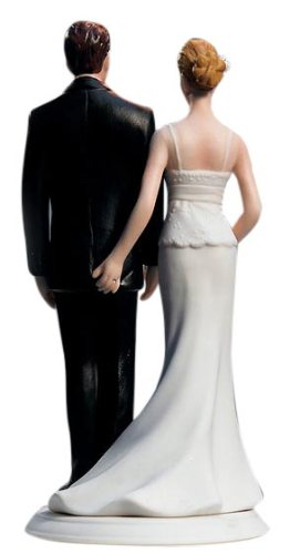 Weddingstar The Love Pinch Bridal Couple Figurine, Caucasian Couple
