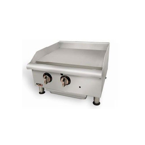 "APW Wyott GGM-48i Champion 48"" Countertop Griddle with Manual Controls and 2 Safety Pilots - 100,000"