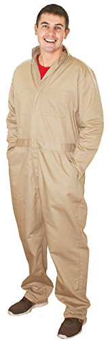 [Costume Adventure Khaki Coveralls Ideal for Ghostbusters Costume Coveralls -L] (Zookeeper Costumes For Womens)