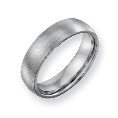 Cobalt Chromium Satin 6mm Band Ring - Size 7.5 - JewelryWeb