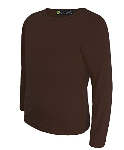 kids-long-sleeve-basic-top-l-22-in-dark-brown-7-8-years