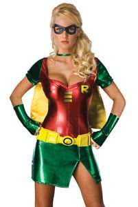 LanLan Sexy Womens Robin Batman Halloween Costume (Diy Group Halloween Costume Ideas)