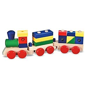 Melissa & Doug Stacking Train on worry wart