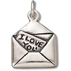 Sterling Silver 18 .8mm Wide Box Chain Necklace With 3D I Love You Letter Pendant