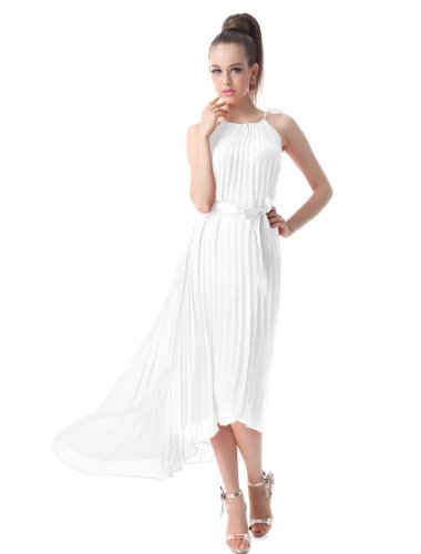 Ever Pretty Chiffon Summer Dresses For Women 09830, He09830Wh10, White, 8Us