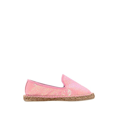 R Kids Little Girls Sequined Espadrilles With Rope Effect Sole Pink Size 33 Sequined Espadrille