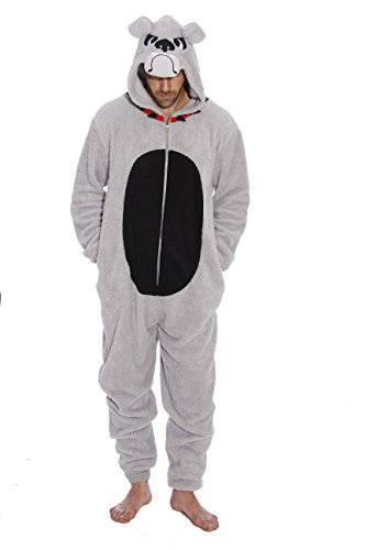 6427-S-BullDog #FollowMe Adult Onesie / Men's Onesies / Pajamas (Bulldog Shirts For Kids compare prices)
