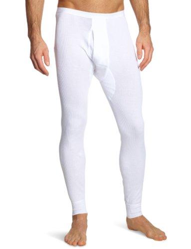 Schiesser Herren Lange Unterhose 005050-100, Gr. 5 (M), Weiß (100-weiss)
