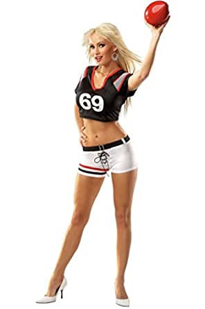 com: Coquette Womens Football Player Naughty Sports Outfit Fancy Dress