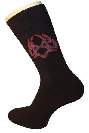 Weri Spezials Chaussettes pour Hommes. Couleur: Noir, Dessin: par ordinateur nr.3, Taille: 39-42