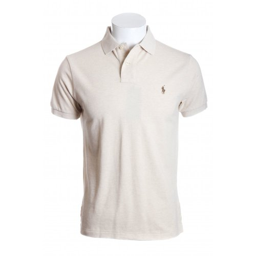 Polo Ralph Lauren mens short sleeve custom fit polo shirt in smoke heather SML