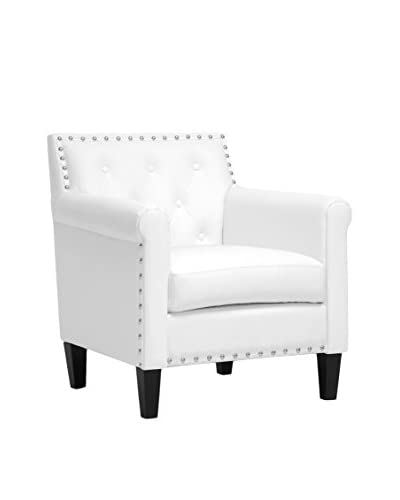 Baxton Studio Thalassa Arm Chair, White