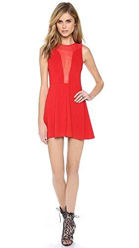 For Love & Lemons Women's Lulu Dress, Red, Medium