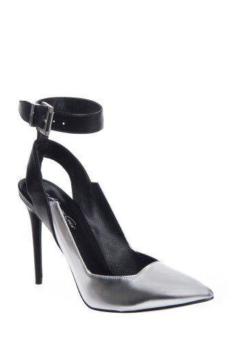 Kenneth Cole Watts Stiletto High Heel Ankle Strap Pointed Toe Pump